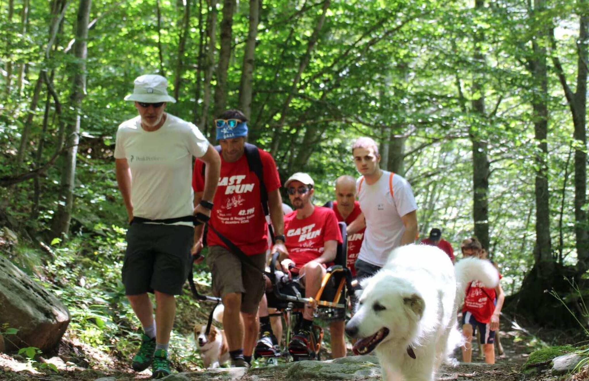 Escursione in montagna con ragazzi disabili